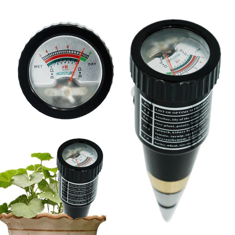 Портативный измеритель влажности PH тестер для сада почвы металла 10 80% гигрометр