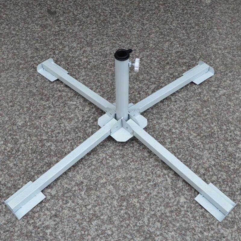 Light Stand Ground: 4 Feet Folding Adjustable Beach Garden Patio Sun Umbrella