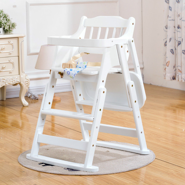 High Quality Solid Wood Baby Dining Chair Folding Baby Feeding Chair Multifunctional Adjustable Lunch Dinner Baby High Chair C01