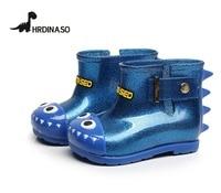 Waterproof Child Rubber Boots Boys Jelly Soft Dinosaur Infant Shoes Girl Rain Boots Baby Kids Rainboots Kids Rain Shoes