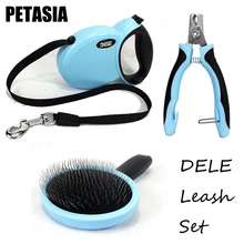 Top Fashion Hot Sale Dog Harness Pet Dog Chain Harness Leash One Set And 3 Piece Comb / Nail Clipper Retractable Kit