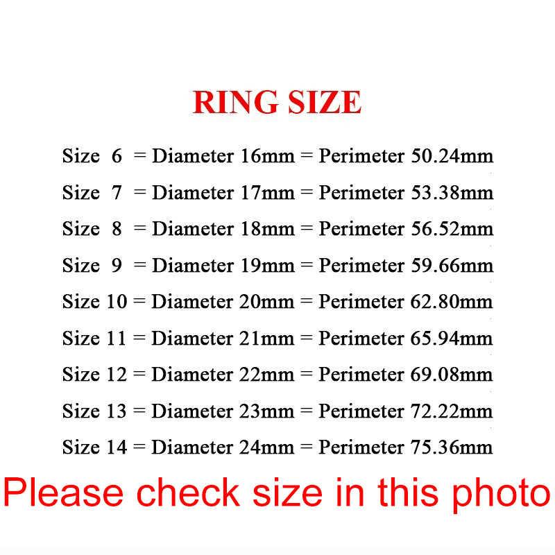Auxauxme ไทเทเนียม Rap Monster Zircon แหวนทองงานแต่งงานแหวนผู้หญิงผู้ชายเครื่องประดับหมั้นเครื่องประดับ