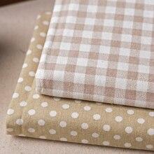 50*150 см в клетку и горошек хлопок льняная ткань на полметра DIY швейная обивка, домашний текстиль штора хлопчатобумажная ткань