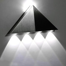Modern Led Triangle Aluminum 3W 5W Sconce Led Lamp AC Creative Industrial Light Indoor Outdoor Lighting Fixtures House Lamparas(China)