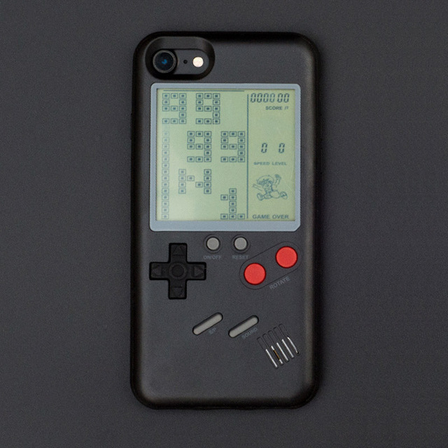 huge discount 2f13d 14095 US $12.99 |Retro game case GB Gameboy Color Tetris Phone Cases for iPhone 7  8 X Plus Soft TPU Can Play Blokus Game Console Cover For Iphone-in ...