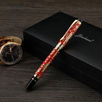 Chinese Style Luxurious Fountain Pen Classical Business Office Ink Pen Retro Student Calligraphy Fountain Pen Suit Gift Box
