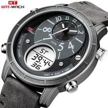KAT-WACH men's brand watch luxury leather strap wrist watch men sport quartz watches classic waterproof watch relogio masculino стоимость