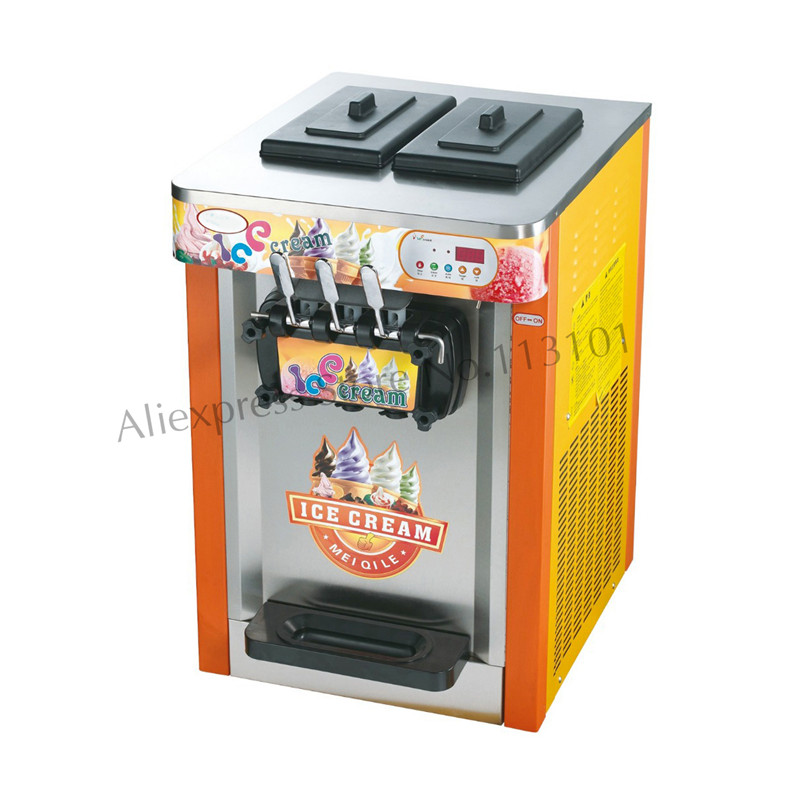 Soft Ice Cream Maker for Ice Cream Business Ice Cream Machine Commercial Use 3 Flavors Special Offer 1pc15kgs 24h 220v small commercial automatic ice maker household ice cube make machine for home use bar coffee shop
