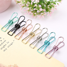 hot deal buy cute retro colored metal paper clips hollow ticket file organizer binder clip elliot folder office school supplies stationery