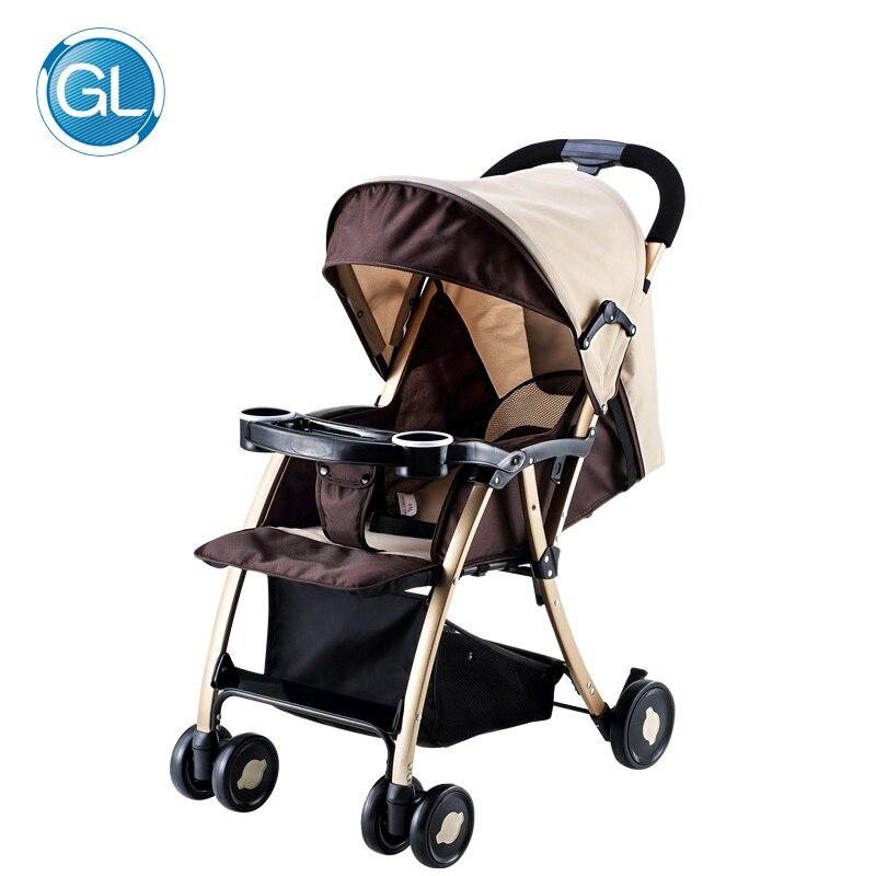 GL Детские коляски Зонтик коляски автомобиля коляски Портативный складной прочного сплава Сталь для детей от 0 до 5 лет новорожденных