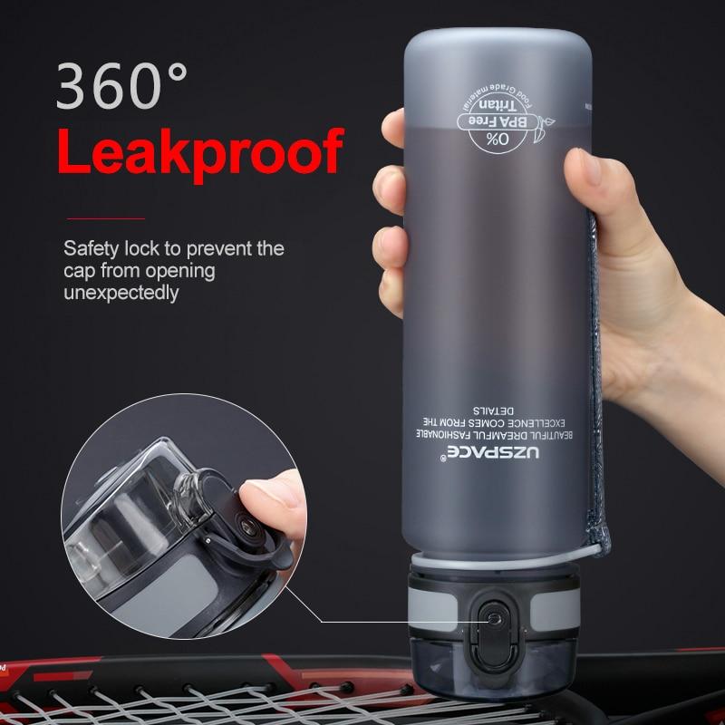 Hot Sports Water Bottle 500ML 1000ML Protein Shaker Outdoor Travel Portable Leakproof Drinkware Plastic My Drink Bottle BPA Free 6