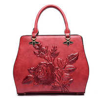 New Autumn and Winter Fashion Women Designer PU Leather Messenger Bags National Floral Handbag for Female Ladies Shoulder bags