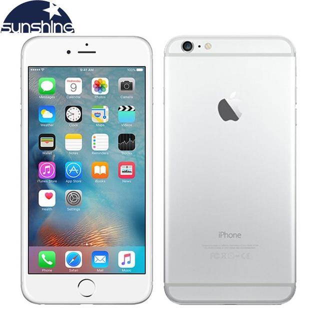 Apple iphone 6 & iphone 6 plus desbloqueado original, telefone móvel 4g lte 4.7/5.5 ips 1gb smartphone ram 16/64/128gb ios, orint de dedo
