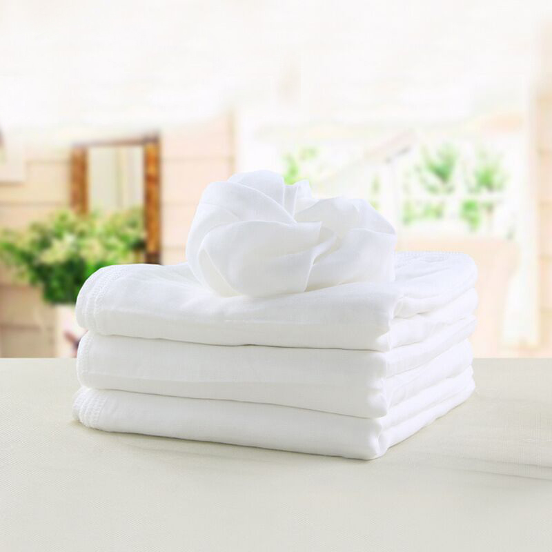 Ѕелый ?вет супер впитывающая марлей, муслин Prefold ткань пеленки ћногоразовые дышащий Ѕамбуковая муслиновая пелЄнка
