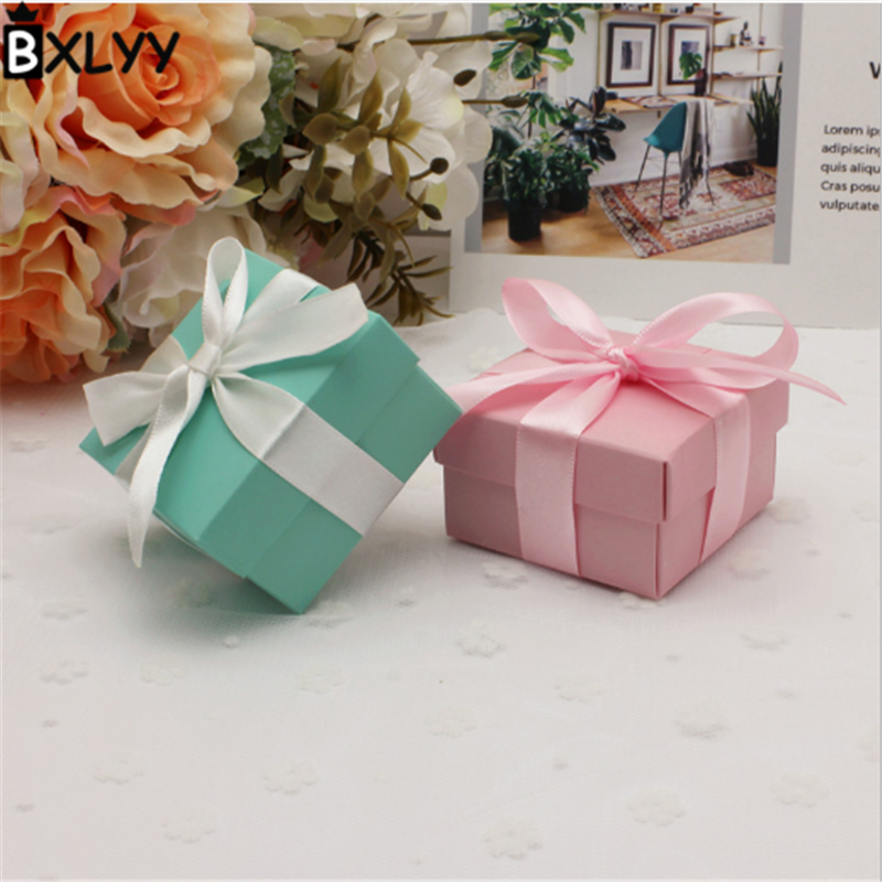 BXLYY Folding Carton World Cover Small Candy Box Gift Packaging Carton Wedding Gift Baby Birthday Party Halloween Supplies.7z image