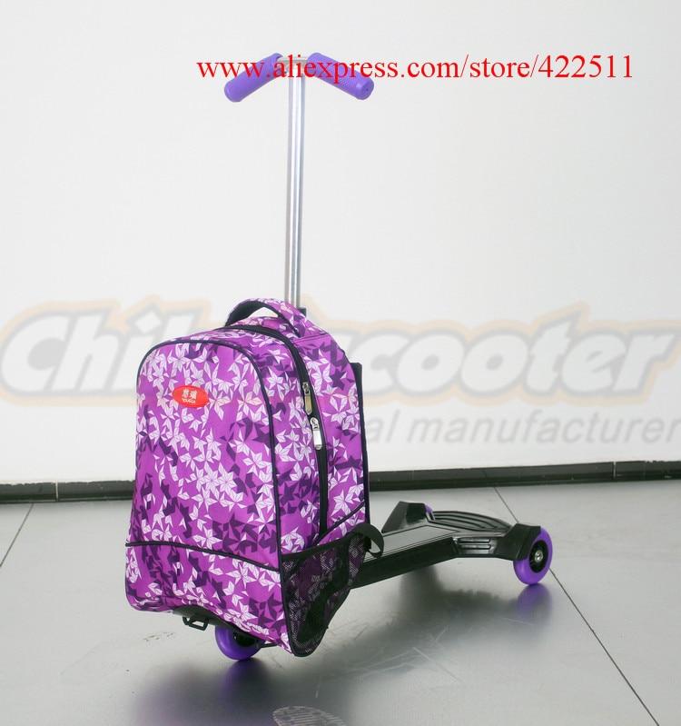 New 18Scooter Backpack Children Scooter School Bag