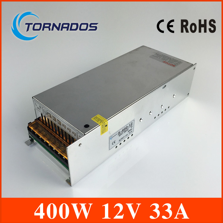 power supply 400W 12V 33A Single Output Switching power supply unit for leds,100~240V AC input 12V DC output for LED SMPS single output dc 36v 11a 400w switching power supply for led light strip 110v 240v ac to dc36v smps with cnc electrical equipmen