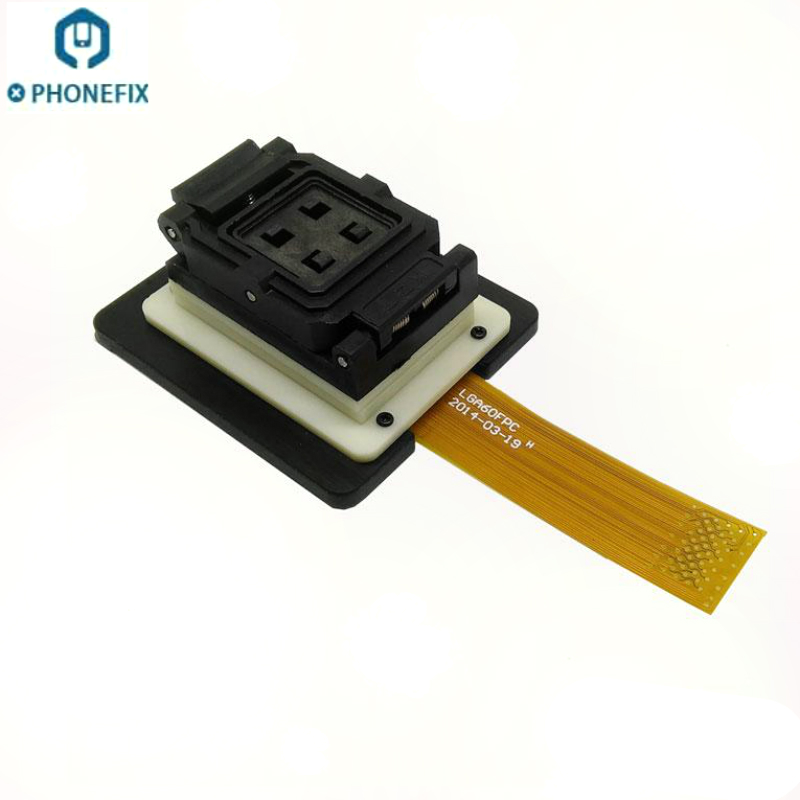 PHONEFIX LGA52 LGA60 NAND Test Socket Nand flash Chip Tester HDD jig fixture For iPhone 4