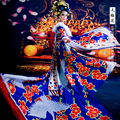 Blue Crane Costume Empress Costume Tang Suit TV Drama Legend of Tang Empress Wu Meiniang with Hair Set