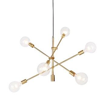 Post moderne LED kronleuchter beleuchtung 6 kopf einstellbare kreative hängende licht nordic gold schwarz metall körper E27 6 Watt lampe Toolery
