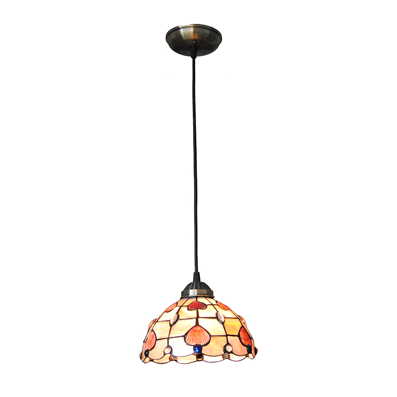 Mediterranean Style Pendant Lights Kitchen Restaurant Stained Glass Hanging Lamp American Countryside Lighting Droplight PL721 pastoral tiffany glass pendant lights latin american colorful tiffany lighting lamp mediterranean hanging glass lamp cover lampe