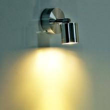 Reflektory kinkiet Focos led malowanie lampa lampy sufitowe tło focos 3 W 5 W 270 stopni regulowany salon reflektory tanie tanio Żarówki led energy saving ROHS Nikiel szczotkowany TRANSCTEGO 220 v Awaryjne Aluminium 1 YEAR SL-02 Spotlights wall lamp