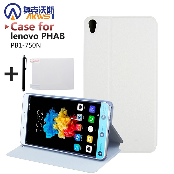 buy popular a7d3c d968e US $159.0 |For Lenovo PHAB 6.98 PB1 750 PB1 750N PB1 750M Phone Customized  Luxury Flip PU Leather Skin Book Cover Case With Magnet-in Tablets & ...