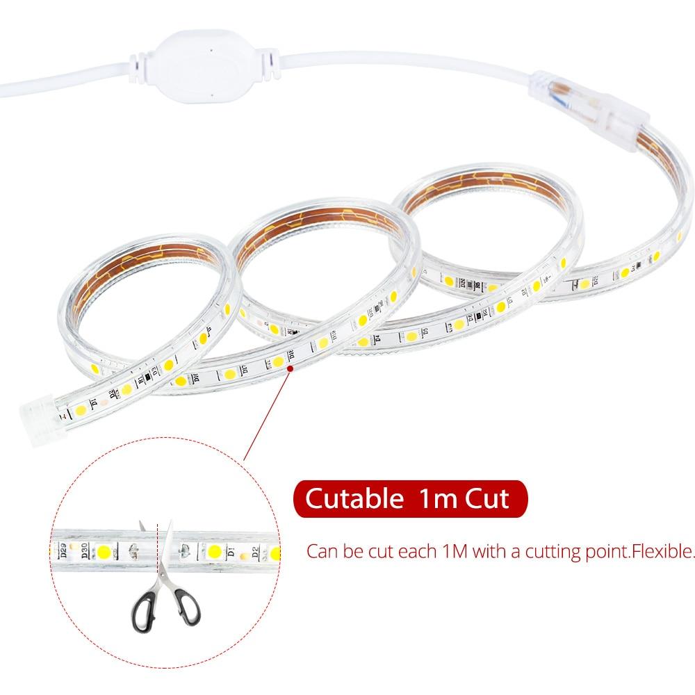 50M Roll Led Strip Licht 60 Leds/m Waterdichte Led Neon Licht Touw Buis Cuttable Flexibele Strip Voor indoor Outdoor Verlichting Decor - 3