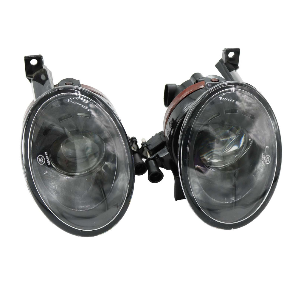 2Pcs For VW Jetta 2011 2012 2013 2014 Car-Styling Front Fog Light Fog Lamp With Convex Lens one pair of car lower bumper fog light grille grilles lamp cover frame for vw mk6 jetta 2011 2014 5c6853666a
