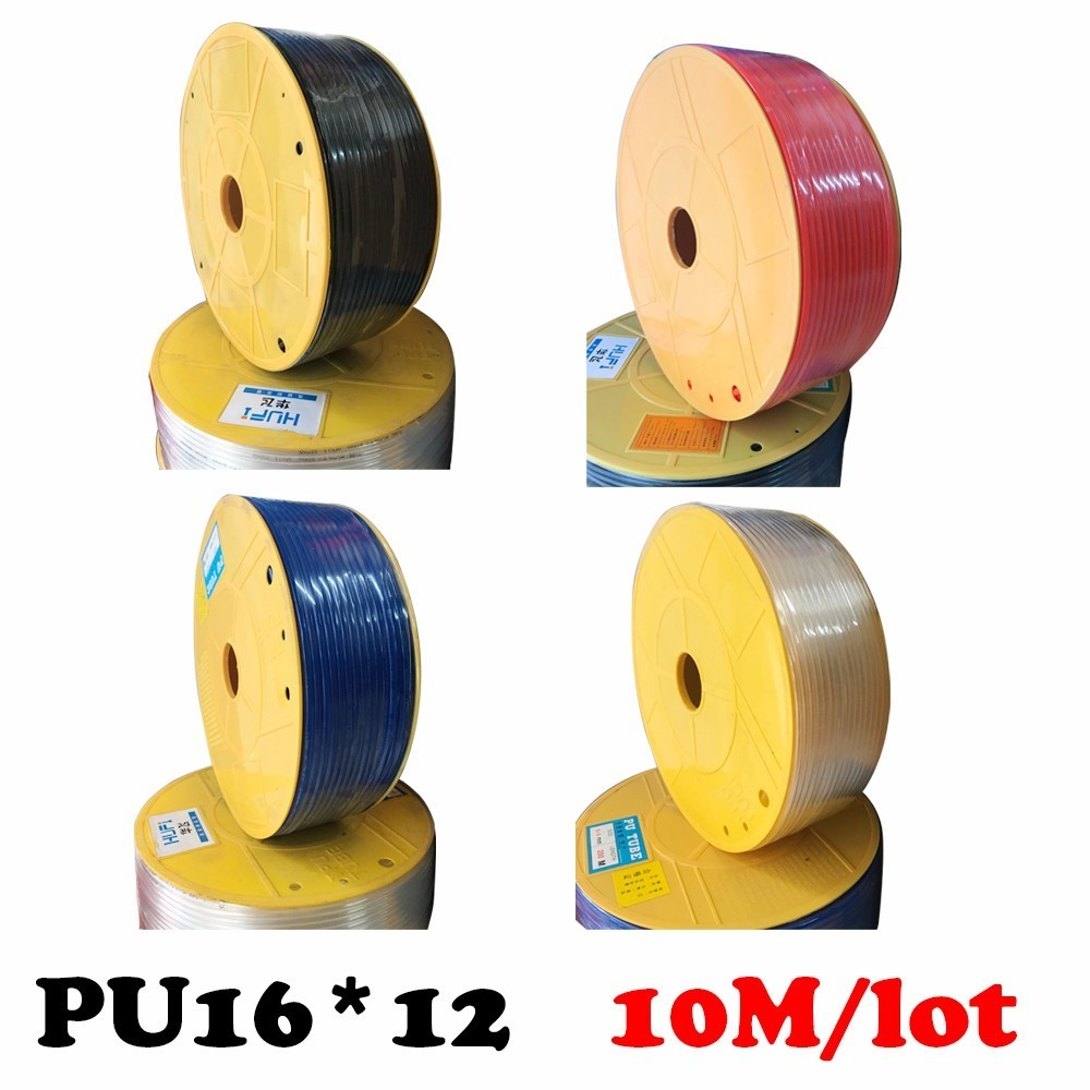 PU Pipe 16*12mm for air & water 10M/lot High pressure air compressor ID 12mm OD 16mm Pneumatic parts pneumatic hose kit engineering pneumatic air driven mixer motor 0 6hp 1400rpm 16mm od shaft