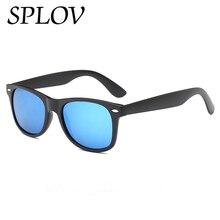 c36e2007c1a0c Splov clássico quadrado polarizado óculos de sol das mulheres dos homens  marca designer revestimento óculos de sol condução do v.