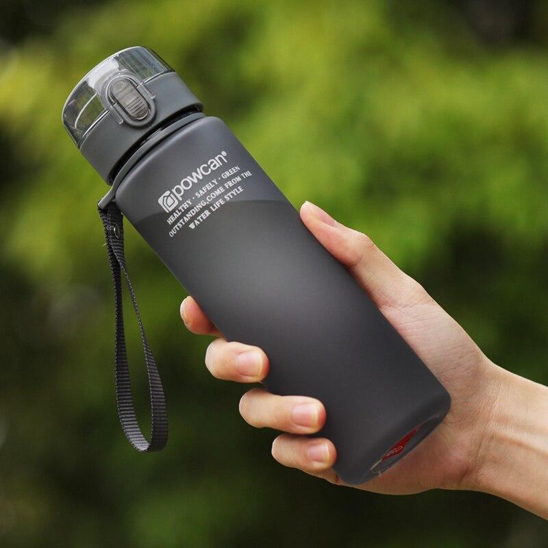 Bouteille d'eau chaude 800ml 1000ml En Plastique bouteille à boire directe école bouteilles d'eau Shaker bouteille Gourde En Plastique Sport