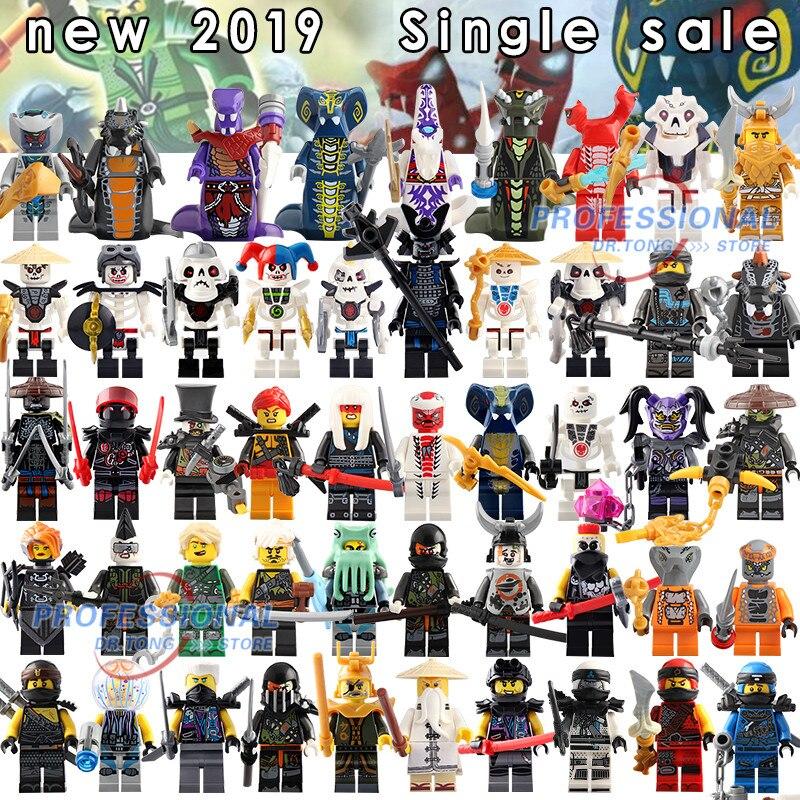 50 pcs figurines de Super héros simples Kai Jay Cole Zane Nya Lloyd serpent armes film blocs de construction jouets pour enfants cadeaux BR232