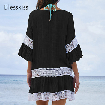 BlessKiss Summer Lace Beach Dress Cover-Up 2
