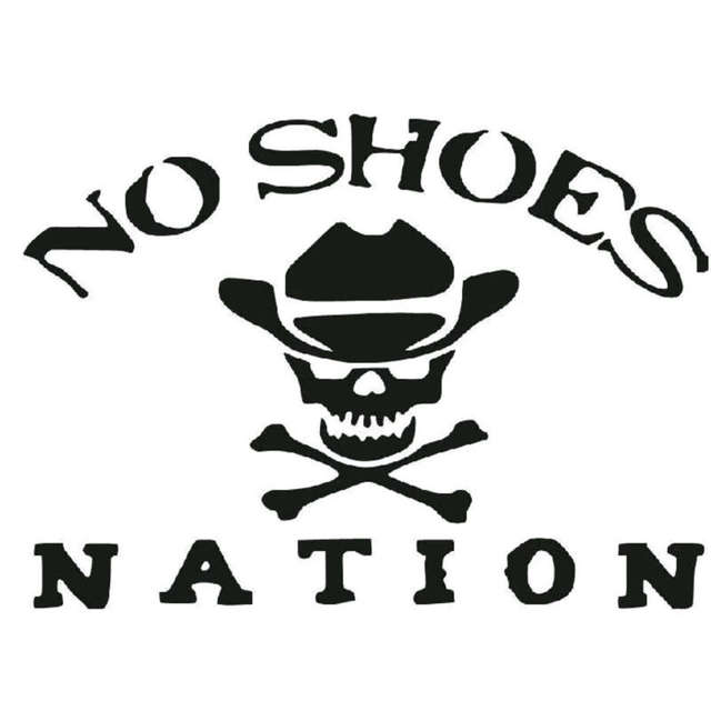 37b79810e05d32 Online Shop 15.2CM 11CM No Shoes Nation Die Cut Vinyl Kenny Chesney Car  Stickers And Decals Motorcycle Car Styling Black Sliver C8-1429