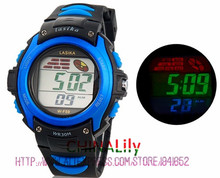 Multi-fonctionnelle de Kid 30 M Étanche Sport LED Montre-Bracelet Électronique avec Chronomètre, Night Light & Réveil Fonction 59