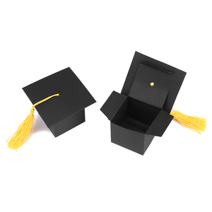 Image 3 - 10pcs Doctor Hat Cap Candy Box Graduation Celebration Party Decoration Candy Favor Boxes Gift Packing Box Paper Carrier