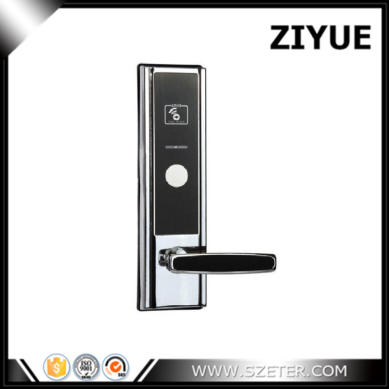 Zinc Alloy Radio Frequency Electronic T57  Rfid Card Reader Hotel Handle Door Lock Hotel ET820F hotel lock system rfid t5577 hotel lock gold silver zinc alloy forging material sn ca 8037