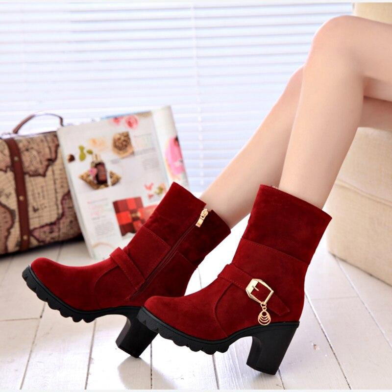 Nouveauté : Boots Fourrées YUYAN HAPPY HOUR à Talons - Du 35 au 40