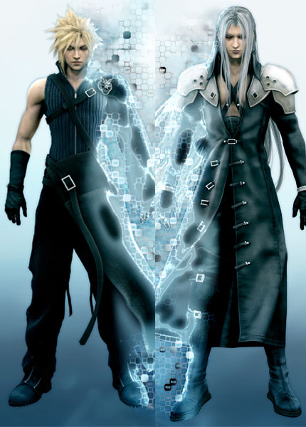 Final Fantasy VII Cloud Sephiroth 150 x 50CM Hugging ...  Final Fantasy V...