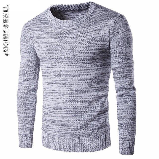 3b73fc3e1551 Neue Herbst Winter Mode Marke Männer Pullover Pullover Stricken Dicke Warme  Designer Slim Fit Beiläufige Gestrickte