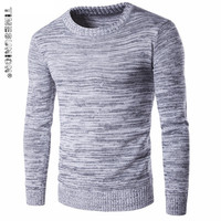 2016 Winter O Neck Solid Color Sweater Men S Clothing Thick Sweater Outerwear Sweater Male Sweater