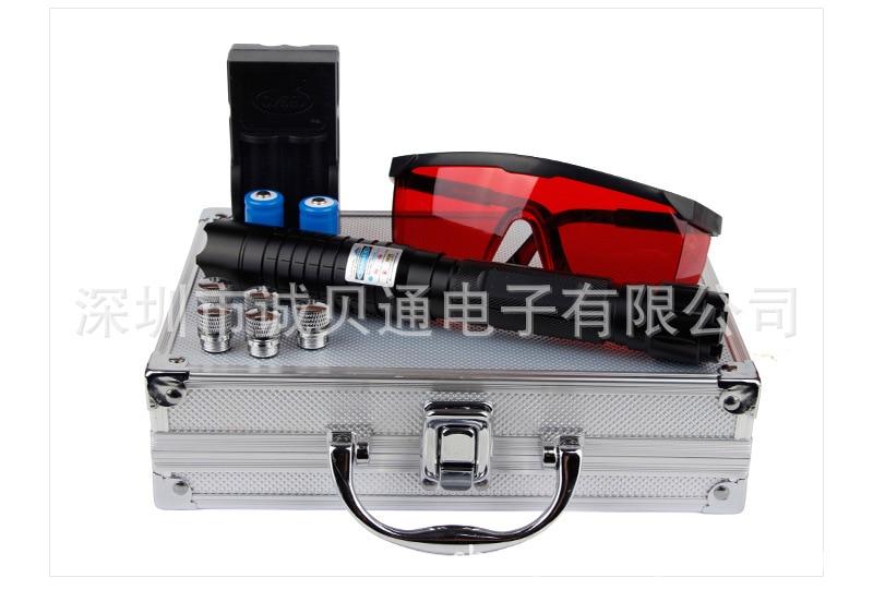 Hard aluminum material 2000M range outdoor self-defense exploration laser pointing star pen laser flashlight rescue signal light