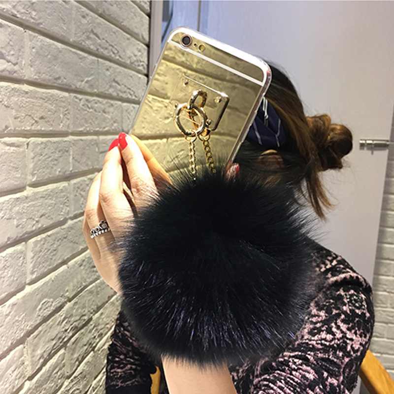 silver-luxury-metal-rope-mirror-tassel-phone-capa-fake-rabbit-fur-ball-for-iphone-7-7plus-6-6s-6plus