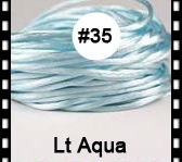 2.5mm 100yds/spool Lt Aqua (#35) Rattail Satin Cord Chinese Beading Polyester (similar but not nylon) Cord NCP5