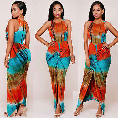 New Sexy Women Ladies Sexy Boho Dài Maxi Evening Dress Bãi Biển Mermaid Dresses Sundress