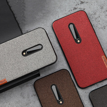 For Oneplus 7 case business cloth mobile phone retro all-inclusive 6 6T Pro drop Ultra-thin protection cover