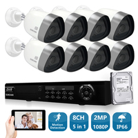 SUNCHAN 1080P 2MP Waterproof Outdoor Video Surveillance Security Camera System 1080P CCTV System 8 Channel DVR