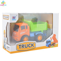 Children Toy Car Dumpers ABS Engineering Vehicle Model Simulation Excavator Inertia Gift Toys Vehicles