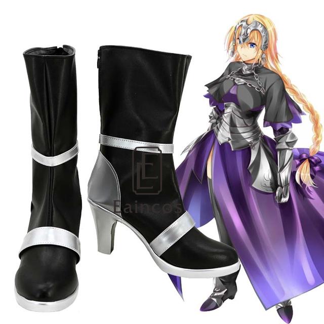 Anime Fate Stay night Apócrifos Gobernante Juana de Arco Halloween Party Cosplay Shoes Boots Por Encargo